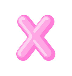letter x candy font caramel alphabet lollipop vector image vector image