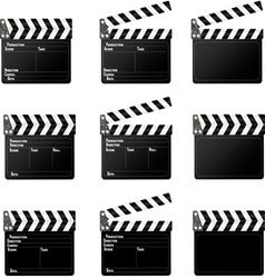 movie clapper vector image