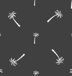Palm sign Seamless pattern on a gray background vector image vector image