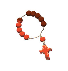 rosary catholic faith vector image vector image