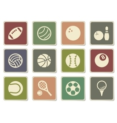 Sport balls simply icons vector image