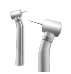 Stainless dental drill vector
