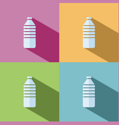 Water bottle icon on colored background vector