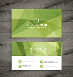 Business card in green abstract background vector