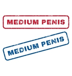 Medium penis rubber stamps vector