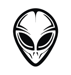 Tribal alien head vector