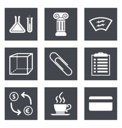 Icons for web design and mobile applications set 6 vector