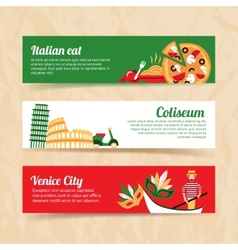 Italy banner set vector
