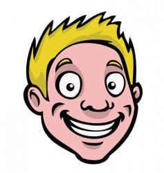 Male cartoon face vector