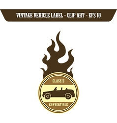 Retro transport and racing element vector