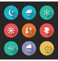 Set of meteorological icons vector