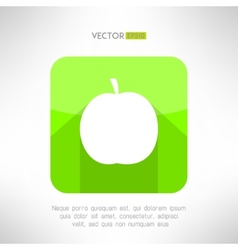 Apple icon in modern clean and simple flat design vector