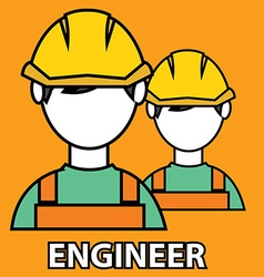 Engineer construction manufacturing worker vector