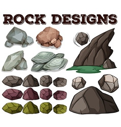 Different kind of rock designs vector