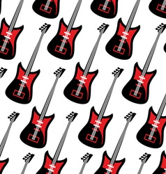 Guitar seamless pattern electric guitar repeating vector