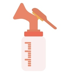 Manual breast pump vector image