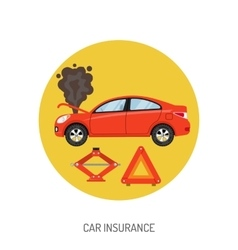 Car insurance flat icon vector