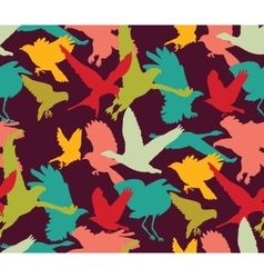 Birds bright abstract ornament color seamless vector image