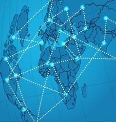 Social network abstract scheme vector