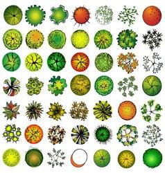 A set of treetop symbols vector
