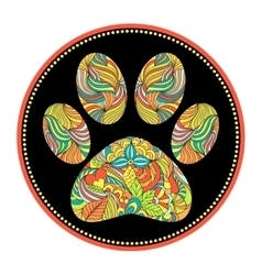 abstract animal paw print vector image