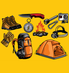 adventure gears in set vector image vector image