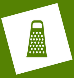 Cheese grater sign white icon obtained as vector