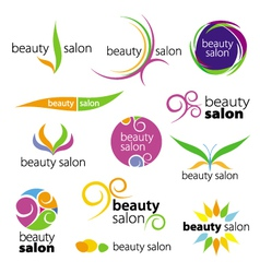 collection of logos beauty salons vector image vector image