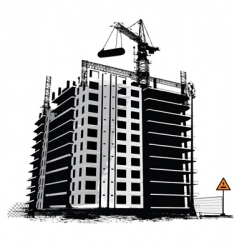 construction work site vector image