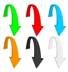 Down arrow Colored set vector image vector image