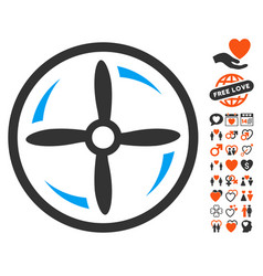 drone screw rotation icon with lovely bonus vector image