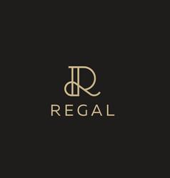 elegant line curve logotype premium letter vector image