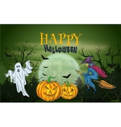 Halloween party with scary sketch elements vector