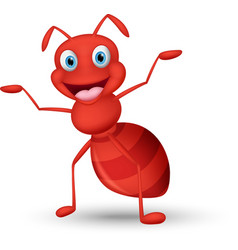 Happy ant cartoon vector