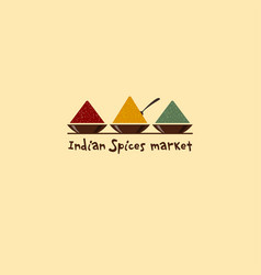 indian spices market logo vector image