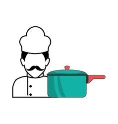 kitchen pot utensil vector image vector image