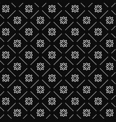 line flower geometric seamless pattern 1201 vector image