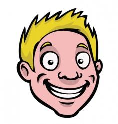 male cartoon face vector image