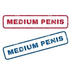 Medium penis rubber stamps vector