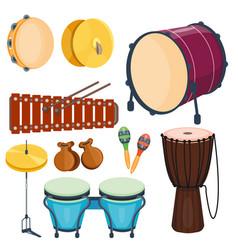 Musical drum wood rhythm music instrument series vector
