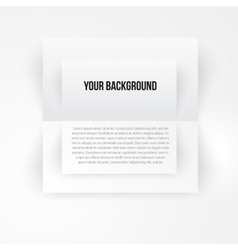 paper template banner White vector image