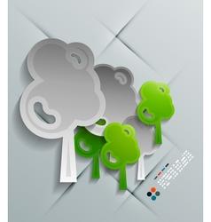paper tree modern design vector image