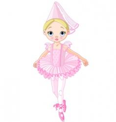 pink princess vector image vector image