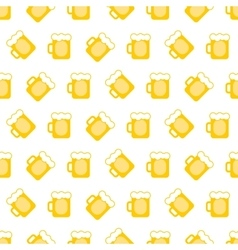 Pint tankards background vector