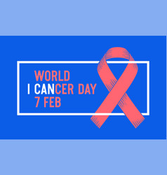 poster world cancer day vector image