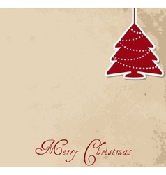 Retro Christmas background vector image