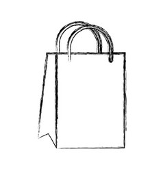 Sketch draw gift bag cartoon vector