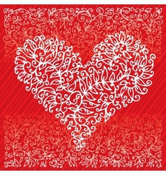 St Valentine Love Red Heart Card IV vector image vector image