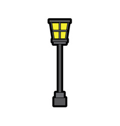 Street lamp vintage icon image vector
