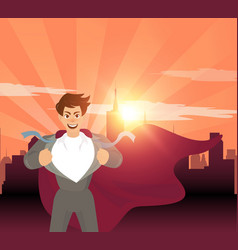 Superhero businessman concept vector